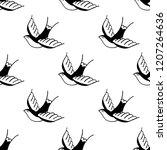 swallow illustration... | Shutterstock .eps vector #1207264636
