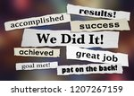 we did it success goal achieved ... | Shutterstock . vector #1207267159