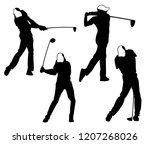 golf outdoor sport vector logo... | Shutterstock .eps vector #1207268026