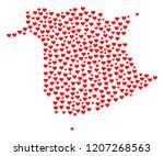 mosaic map of new brunswick... | Shutterstock .eps vector #1207268563