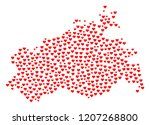 mosaic map of mecklenburg... | Shutterstock .eps vector #1207268800