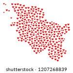 mosaic map of schleswig... | Shutterstock .eps vector #1207268839