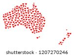 collage map of australia and... | Shutterstock .eps vector #1207270246