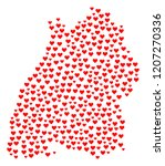 collage map of baden... | Shutterstock .eps vector #1207270336