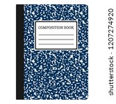 composition book   navy blue... | Shutterstock .eps vector #1207274920