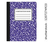 composition book   purple... | Shutterstock .eps vector #1207274923