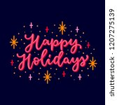 happy holidays neutral seasonal ...   Shutterstock .eps vector #1207275139