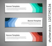 stock vector banner background... | Shutterstock .eps vector #1207290136
