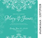 wedding card or invitation with ... | Shutterstock .eps vector #120729328