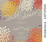 wedding card or invitation with ... | Shutterstock .eps vector #120729343