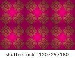 elegant golden invitation card... | Shutterstock . vector #1207297180