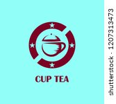 retro cup tea logo design | Shutterstock .eps vector #1207313473