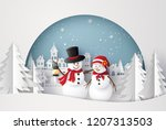 merry christmas and happy new... | Shutterstock .eps vector #1207313503
