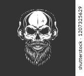 Vintage Monochrome Skull...