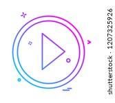 arrows icon design vector | Shutterstock .eps vector #1207325926