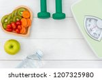diet and weight loss for... | Shutterstock . vector #1207325980