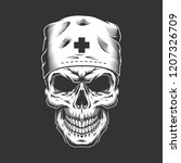 vintage doctor skull in medical ...   Shutterstock .eps vector #1207326709
