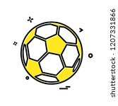 sports icon design vector  | Shutterstock .eps vector #1207331866