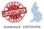 map of liechtenstein vector... | Shutterstock .eps vector #1207331956