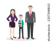 happy young family. dad  mom... | Shutterstock .eps vector #1207348810