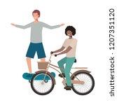 men practicing sports avatar... | Shutterstock .eps vector #1207351120