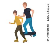 men practicing sports avatar... | Shutterstock .eps vector #1207351123