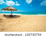 tropical beach in sri lanka | Shutterstock . vector #120735754