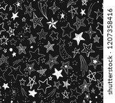 beautiful seamless pattern hand ...   Shutterstock . vector #1207358416