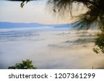 morning mist sunrise at khao... | Shutterstock . vector #1207361299
