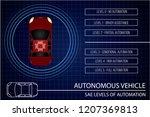 autonomous vehicle concept.... | Shutterstock .eps vector #1207369813