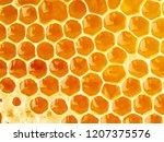 Bee Honeycomb Closeup  Fresh...