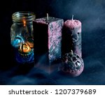 decorative candles for halloween | Shutterstock . vector #1207379689