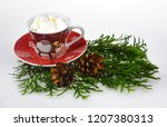christmas candles and lights | Shutterstock . vector #1207380313
