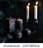 christmas candles and lights | Shutterstock . vector #1207380316