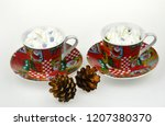 christmas candles and lights | Shutterstock . vector #1207380370