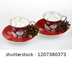 christmas candles and lights | Shutterstock . vector #1207380373