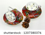 christmas candles and lights | Shutterstock . vector #1207380376