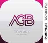 logo letter combinations a  g... | Shutterstock .eps vector #1207381540