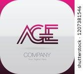 logo letter combinations a  g... | Shutterstock .eps vector #1207381546