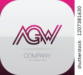logo letter combinations a  g... | Shutterstock .eps vector #1207381630