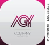 logo letter combinations a  g... | Shutterstock .eps vector #1207381633
