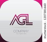 logo letter combinations a  g... | Shutterstock .eps vector #1207381660