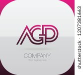 logo letter combinations a  g... | Shutterstock .eps vector #1207381663