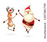 happy expresion of santa claus... | Shutterstock .eps vector #1207381759