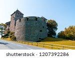beautiful architecture at vaduz ... | Shutterstock . vector #1207392286
