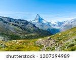 beautiful mountain landscape... | Shutterstock . vector #1207394989