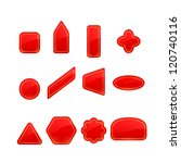red labels and stickers set | Shutterstock .eps vector #120740116