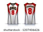 basketball tank top design... | Shutterstock .eps vector #1207406626