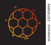 sports icon design vector | Shutterstock .eps vector #1207406896