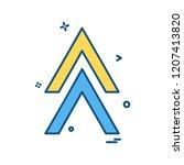 up arrow icon design vector | Shutterstock .eps vector #1207413820